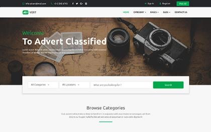 Ads html site templates wrapbootstrap advert classified ads template maxwellsz