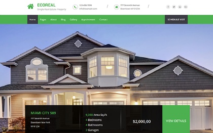 EcoReal - HTML5 Real Estate Template