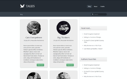 Tales - Responsive Blog Theme