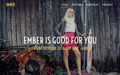 Ember - One Page Responsive Template