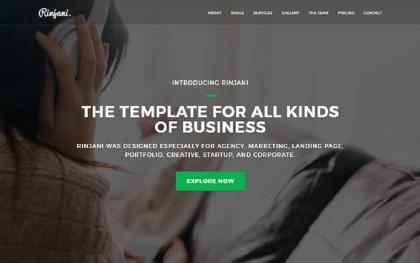 RINJANI - Multi-Purpose One Page Theme