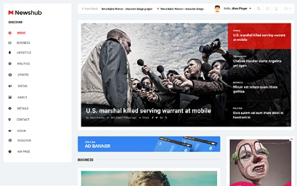 Newshub - News / Magazine Template