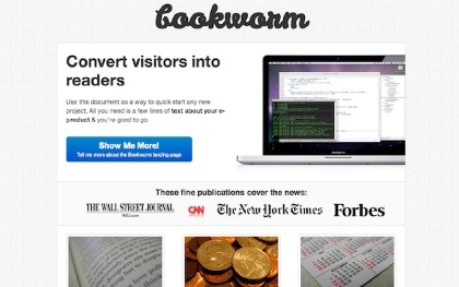 Bookworm - eBook Landing Page