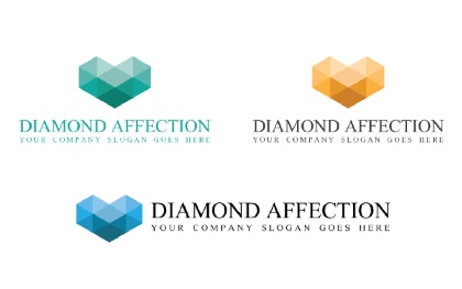 Diamond Affection Logo Template