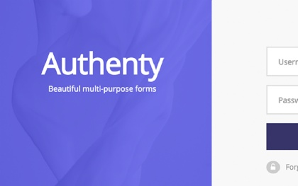 Authenty - Login/Signup Forms