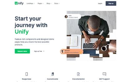 Unify - Responsive Website Template Screenshot