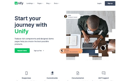 Business corporate templates wrapbootstrap unify responsive website template accmission Choice Image