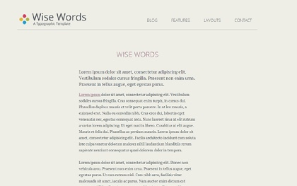 Wise Words - Responsive HTML5 Template
