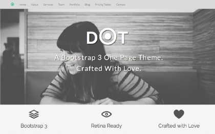 DOT - Bootstrap 3 One Page Theme