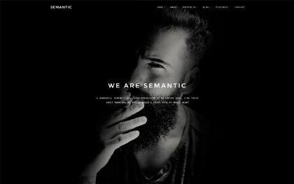 Semantic - Minimal Portfolio Template