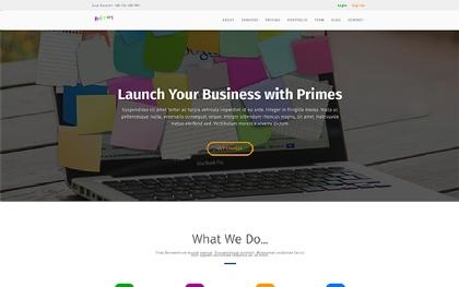 Primes - Landing Page