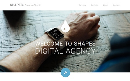 Shapes - Clean Portfolio Template