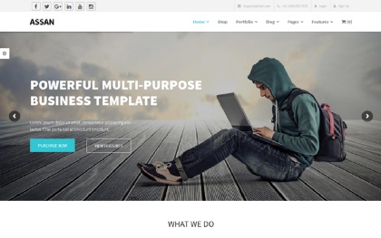 Assan - Business WordPress + Woocommerce