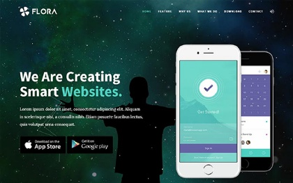 Flora - Easy To Use App Landing Page