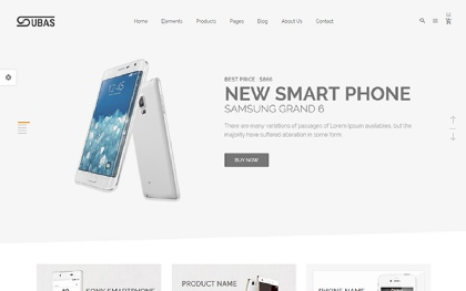 Subas - Electronics eCommerce Template