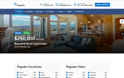 0iProperty - Responsive Bootstrap Template