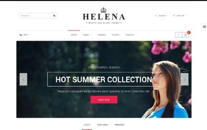 Helena - HTML + OpenCart Store Theme