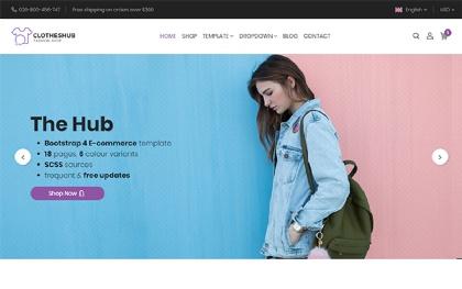 Hub - Bootstrap 4 E-Commerce Template
