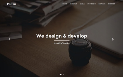 PiuPiu - Multipurpose One Page Template