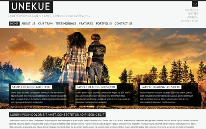 UNEKUE - Single Page Portfolio Template