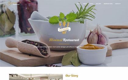 MR - Minimal Restaurant Template