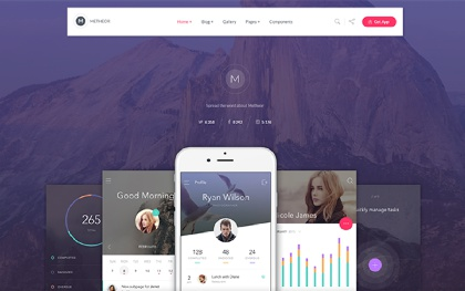 Metheor - Multi-Purpose App Showcase