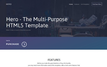 Hero - The Multi-Purpose HTML5 Template