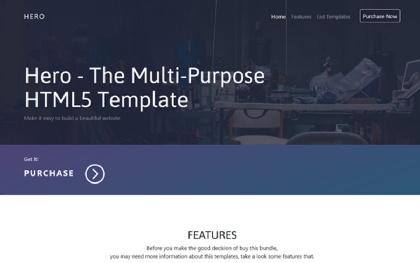 Hero - The Multi-Purpose HTML5 Template