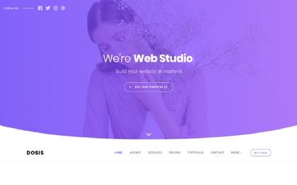 Dosis - Minimal One Page Agency Portfolio