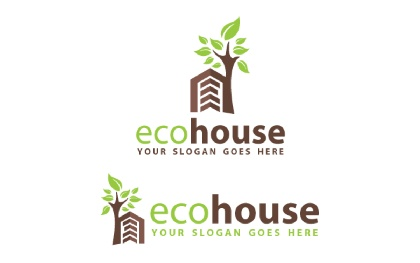 Eco House V2 Logo Template