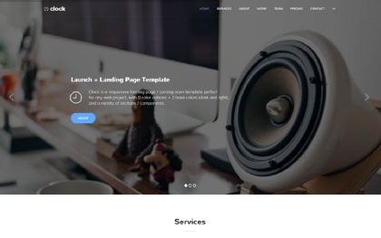 Clock | Launch + Landing Page Template