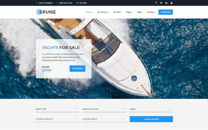 Cruise - Yacht Charter Booking + Listing