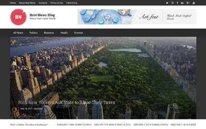 Best News Blog - WordPress Theme