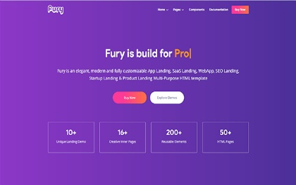 Fury - Complete Landing Page Solution