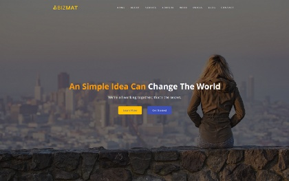 Bizmat - Responsive Business Template