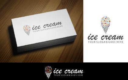 Colorful Ice Cream V-2 Logo Template