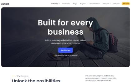 Assan - Clean Multi-Purpose Template