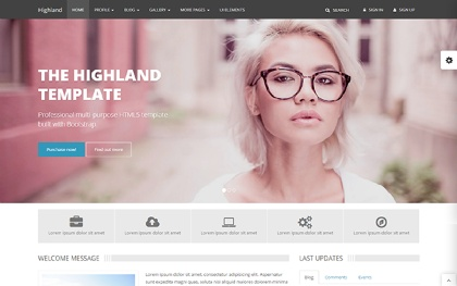 Highland - Multipurpose Template
