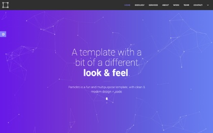 Particles - Personal + Agency Template