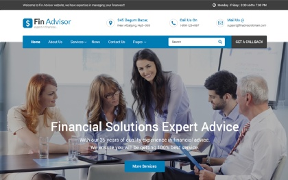Fin Adviser - Financial Website Template