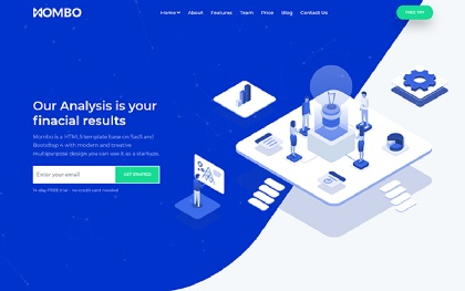 Software Saas App Landing Page Template Startly By
