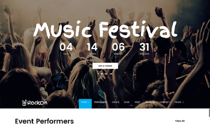 Rockon - Bootstrap Music Template