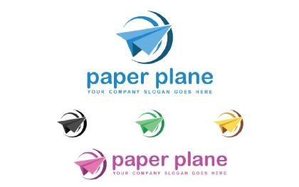 Paper Plane Logo Template