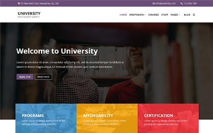 University - Bootstrap 4 Education Theme
