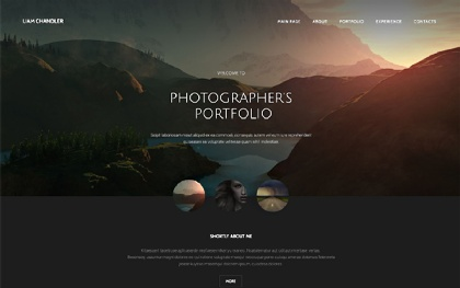 Single Photographer's Portfolio Template