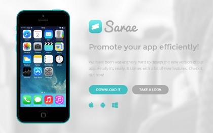Sarae - Responsive App Landing Page