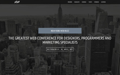 25% OFF WebBuzz - Classy Event Template