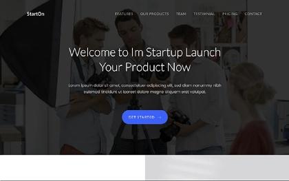 StartOn - Bootstrap Startup Template