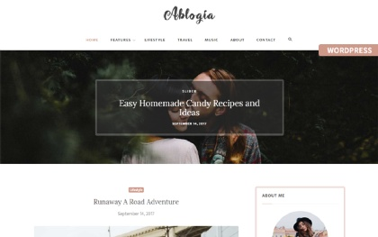 Ablogia - Personal WordPress Blog Theme