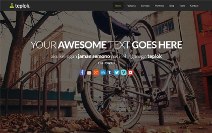 Teplok - Responsive One Page Template